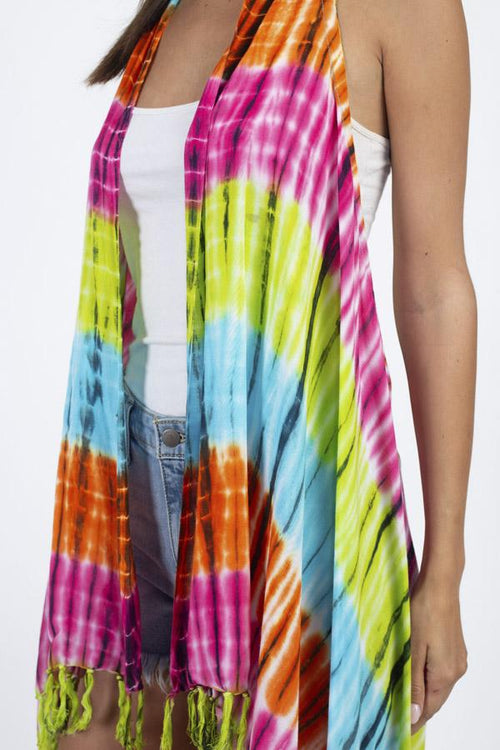 Tie-dyed Racerback Vest Beach Coverup