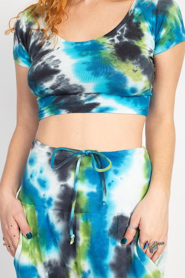 Tie-dyed Organic Crop Baby Tee