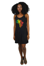 Mighty Judah Tribe Rasta Reggae Tank Dress-Africa
