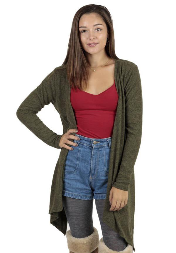 Women's Boho Beats Waterfall Soft Winter Cardigan