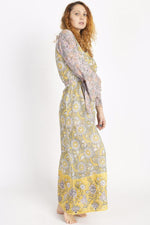 Block Printed Third Eye Maxi Dress