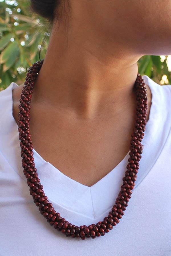 Prayer Bead Rose Mala-red-ons Size