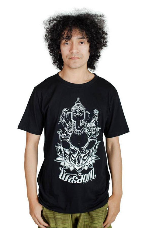 Men's Ganesh Wisdom Eveyday Light Fabric Cotton T Shirt