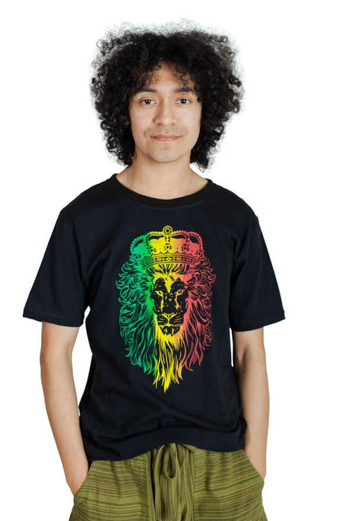 Men's  Rasta Lion Reggae Cotton Tee Shirt