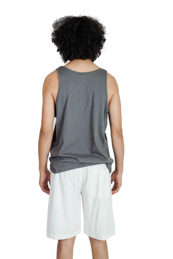Men's White Cotton Beach Shorts