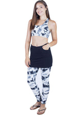 Funky Tie-Dye Skirted Organic Cotton Leggings
