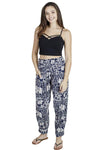Tropical Elephants Cropped Harem Pants