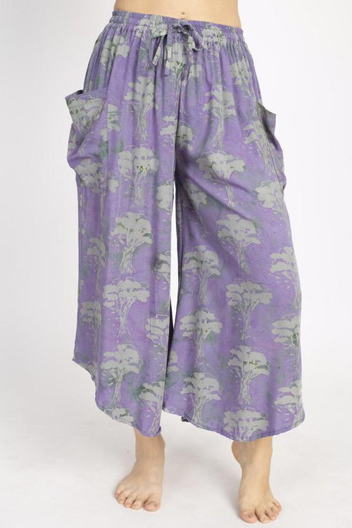 Tree of Life Oversized Crop Pants