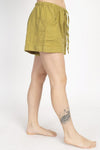 Hemp Blend Natural Cuff Shorts
