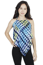 Diamond Layers Funky Halter Beach Crop Top