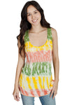 Tie Dye Rasta Stripes Tank Top