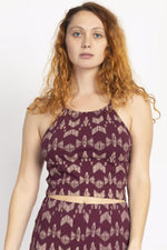 Organic High Neck Crop Cami