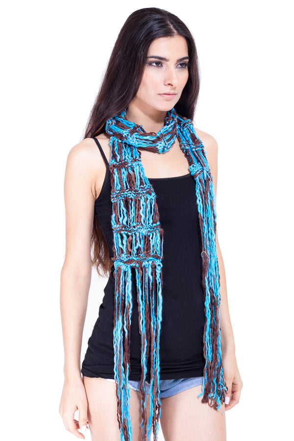 Women's Loose knit boho chic knitted scarf
