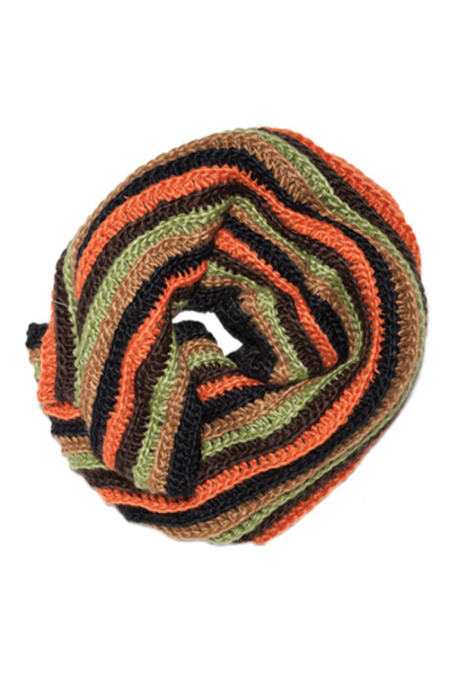 Women's Boho Knitted multi infinity scarf