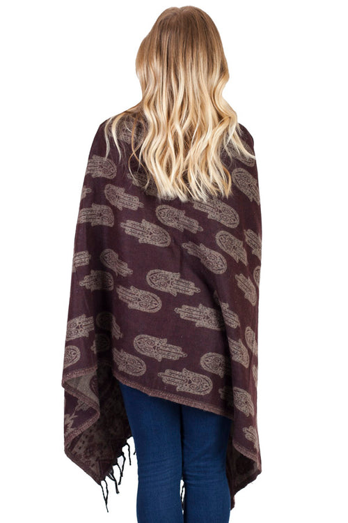 Winter Wonder Warm Hamsa Scarf