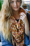 Hand Knit Chunky Soft Cowl Fringe Winter Scarf