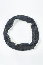 Crocheted Two Tone Infinity Scarf