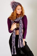 Cable knit Heather Scarf