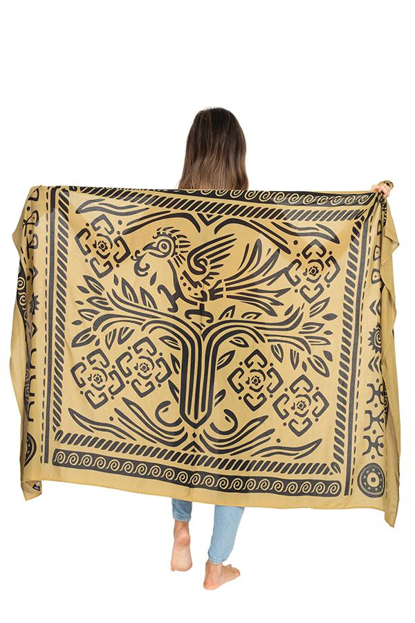 Mayan Tree of Life Travel Scarf