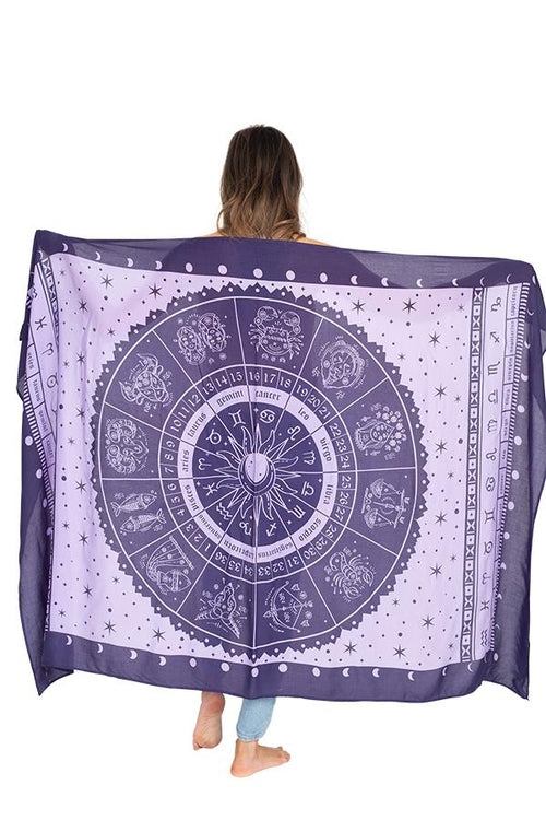 Starry Zodiac Travel Scarf
