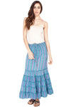 Women's Light Colorful Summmer Long Boho Gypsy Skirt