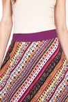 Funky Aztec Ruffled Summer Skirt