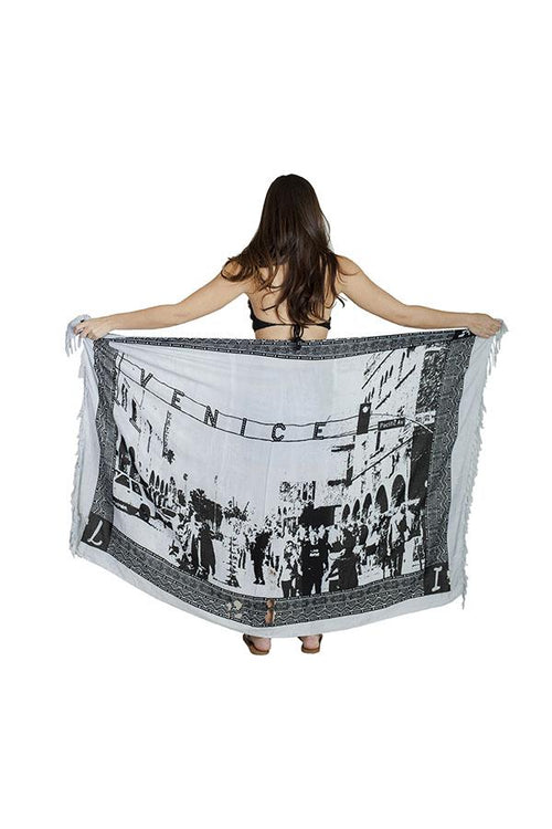 Venice's Bohemian Spirit Multiway Beach Pool Wrap Cover Up Sarong