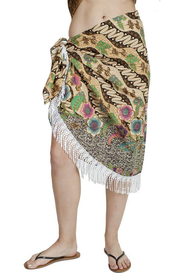 Fearless Floral Boho Chic Beach Pool Wrap Skirt