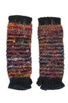 Multi Color Recycled Silk Fingerless Gloves