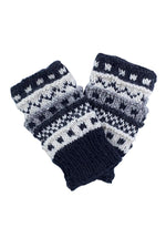 Winter hand knit handwarmer/fingerless Gloves