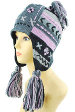 Patch knit snowboarding hat