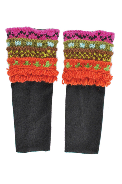Multi knit boot sleeves