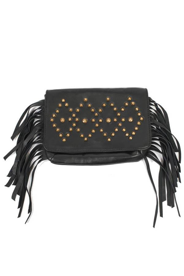 Leather Studs Belt Bag