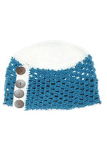 women's Girl's winter knit hat with coconut button