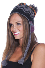 winter knit Snowboarding hat with pom pom