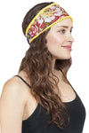 women's cotton printed floral Reversible headband-12pcs/Pk