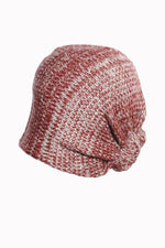 Colorblend Slouchy Beanie With Knot