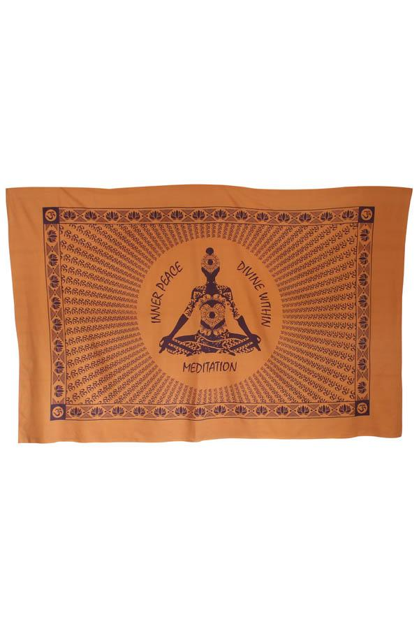 Inner Peace Meditating yogi Yoga Tapestry Wall Hanging