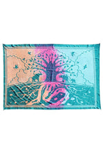 Tree of Life Rainbow Tie-dye Tapestry
