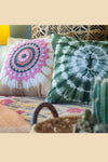 Spiral Tie Dye Throw Pillow With Print Cover