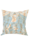Tie Dye Throw Pillow With Buddha Print Cover