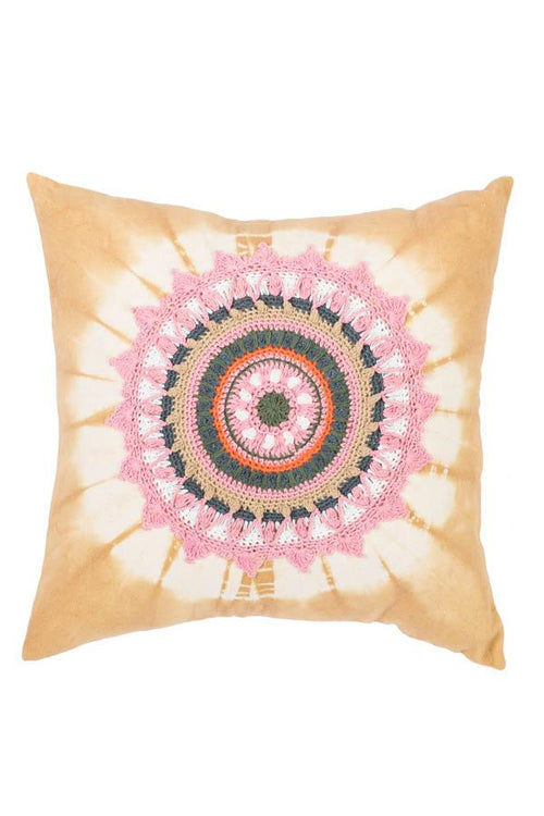 Crochet Mandala Throw Pillow Cover