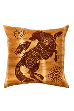 Tiedye Spirit Animal Throw Pillow