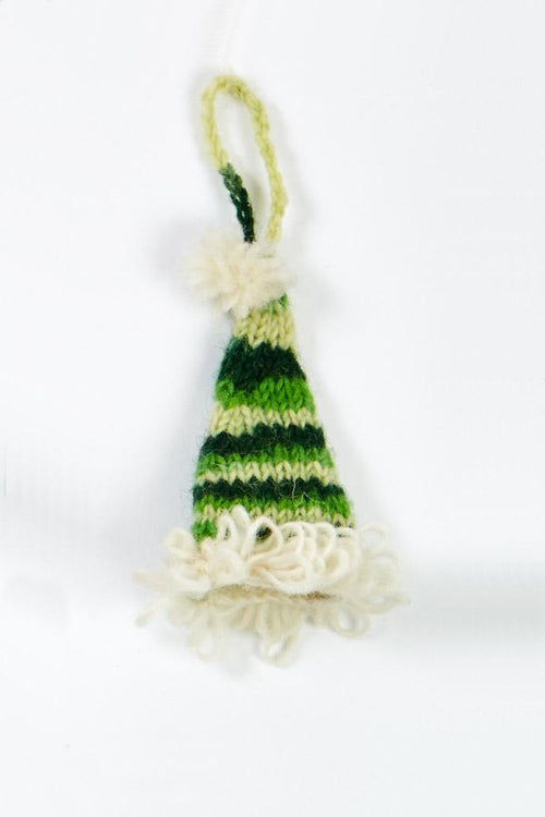 Hand Knit Tiedye Santa Hat Ornament