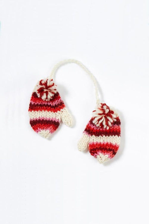 Hand Knit Tiedye Mittens Ornament