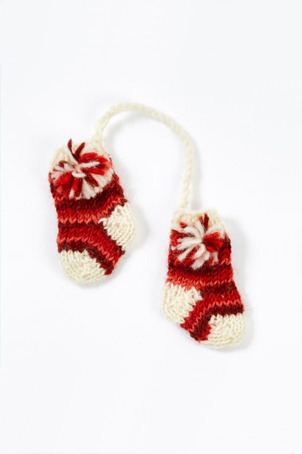 Hand Knit Tiedye Stocking Ornament