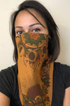 Cotton Boho Moth Bandana