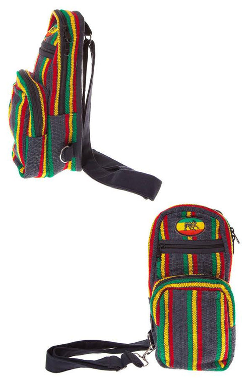 Natural Eco Boho Rasta JAH Crossbody Travel bag