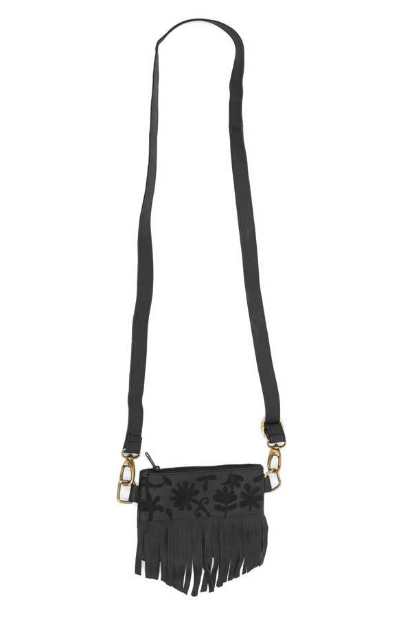 Boho Fringe Embroidered Convertible Crossbody Belt Bag