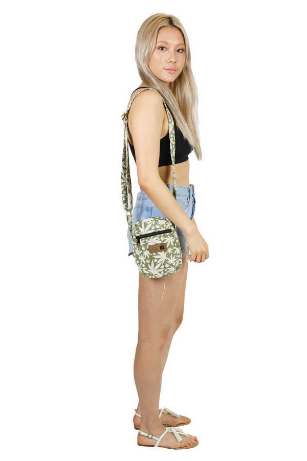 Hippie Rasta Marijuana Leaf Small Crossbody Bag